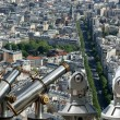 Telescope viewer and city skyline at daytime. Paris, France. — ストック写真