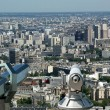 Telescope viewer and city skyline at daytime. Paris, France. — Stock Photo #18405723