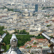Telescope viewer and city skyline at daytime. Paris, France. — Stock Photo #18405887