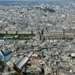 Telescope viewer and city skyline at daytime. Paris, France. — Stock Photo #18405983
