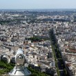 Telescope viewer and city skyline at daytime. Paris, France. — Stock Photo #18406159