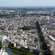 Telescope viewer and city skyline at daytime. Paris, France. — Stock Photo