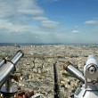 Telescope viewer and city skyline at daytime. Paris, France. — Stock Photo #18406245