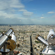 Telescope viewer and city skyline at daytime. Paris, France. — Stock Photo #18406249