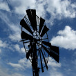 Stock Photo: Old ranch windmill