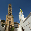 Church of Lindos, town in the Rhodes island, Greece — Stock Photo