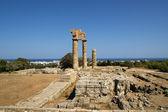 Apollo Temple at the Acropolis of Rhodes, Greece — Stock Photo