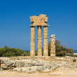 Apollo Temple at the Acropolis of Rhodes, Greece — Stock Photo