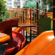 Playground on a sunny summer day, Moscow, Russia - Stock Photo
