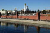 Moscow Kremlin on a sunny winter day, Russia — Stock Photo