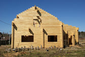 Abstract composition of new house frame construction — Stock Photo