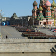 Stock Photo: Rehearsal of military parade on Red Square Moscow, Russia
