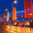 Royalty-Free Stock Photo: Victory Day decoration of the bridge near the Red Square, Moscow, Russia