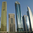 Modern skyscrapers,Sheikh zayed road, Dubai,United Arab Emirates — Stock Photo
