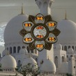 Abu Dhabi Sheikh Zayed White Mosque in UAE - Stock Photo