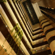 Elevators in atrium of hotel — Stok Fotoğraf #26329825