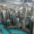 Dubai, UAE. Aerial view from the height of Burj Khalifa — Stock Photo