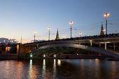 Bolshoy Kamenny Bridge (Greater Stone Bridge), spanning Moskva River at the western end of the Moscow Kremlin — Стоковое фото
