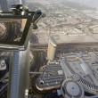 Dubai, UAE. Aerial view from the height of Burj Khalifa — ストック写真