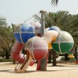 View of beautiful park (playground) in Dubai, UAE — Stock Photo