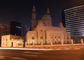 Mosque in Dubai at night, UAE ( United Arab Emirates) — 图库照片