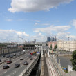 Stock Photo: View of Moscow and St. Andrew's Bridge, Russia