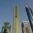 Modern skyscrapers, Sheikh zayed road, Dubai, uae — Stock Photo