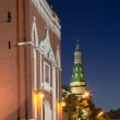 Moscow Kremlin by night, Russia — Stock Photo