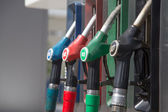 Detail of a petrol pump in a petrol station. — Stock Photo
