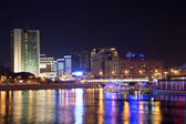 Moskva River in night. Moscow, Russia — Foto Stock