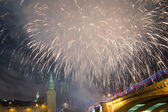 Firework over Moscow. Russia — Foto de Stock