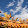 Roof decorations in Yonghe Temple (Lama Temple) in Beijing, China — Stock Photo