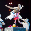 "Stock Photo: Action dram""Legend of Kungfu"", most exciting kungfu show in world, ""Red Theater"", Beijing, China"