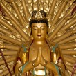 Buddhist Temple. Golden statue of Buddha-- southern Xian (Sian, Xi'an), Shaanxi province, China — Stock Photo