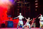 """Action drama """"Legend of Kungfu"""", the most exciting kungfu show in the world, """"Red Theater"""", Beijing, China — Foto Stock"""