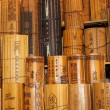 Chinese traditional bamboo slips. — Stock Photo