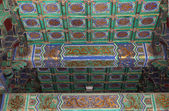 Temple of Heaven (Altar of Heaven)-- Inside the Hall of Prayer for Good Harvests, Beijing, China — 图库照片