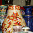 Stock Photo: Traditional Chinese vases at Chinese market