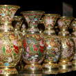 Traditional Chinese vases at a Chinese market — Stock Photo