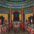 Temple of Heaven (Altar of Heaven)-- Inside the Hall of Prayer for Good Harvests, Beijing, China — Foto Stock