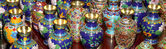 Traditional Chinese vases at a Chinese market — Foto de Stock