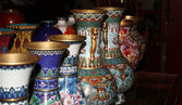 Traditional Chinese vases at a Chinese market — Foto Stock
