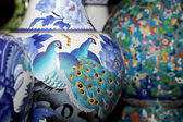 Traditional Chinese vases at a Chinese market — ストック写真