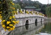 Le parc Beihai--est un jardin impérial au nord-ouest de la cité interdite à Pékin — Photo