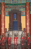 Temple of Heaven (Altar of Heaven)-- Inside the Hall of Prayer for Good Harvests, Beijing, China — Stock Photo