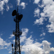 Communication transmitter against a sky background — Stock Photo