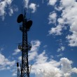 Stock Photo: Communication transmitter against sky background