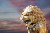 Bronze Chinese dragon statue in the Forbidden City. Beijing, China — Stok fotoğraf