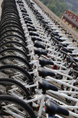 A row of bicycles — Stock Photo