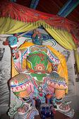 Dharmapala (protector of dharma), Buddhist temple in Beijing, China. — Stock Photo